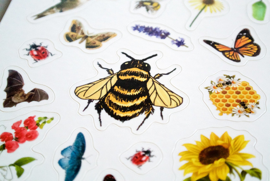 Pollinator Pride Patch and Sticker Kit