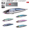 The Ocea Head Dip Flash Boost lies at the forefront of big game fishing across the world. Having a big body with emphasis on its silhouette, this lure still manages to look highly appealing with its strong rolling and slalom action in large bodies of water. Internal specially designed mirrors twitch with the slightest movement, giving your lure unrivaled life like presentation.