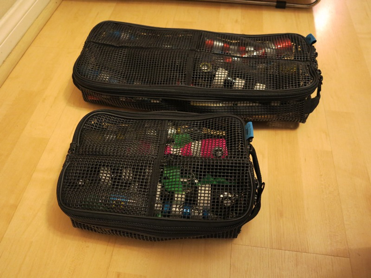 """Temple Reef Mesh Lure bags.  Roll up for storage, flexible, large is 24""""x10x6"""" Medium is 12""""x10x6"""""""