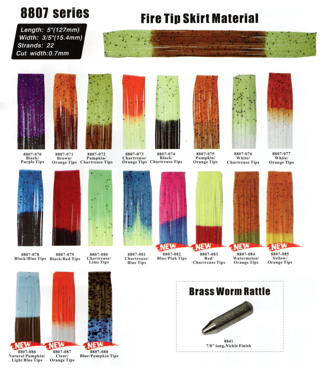 Fire Tip Silicon Skirts material (8807 100pc)