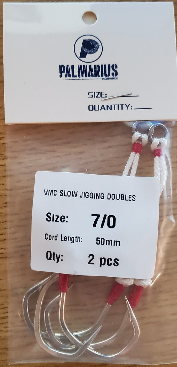 Dual VMC Assist Hooks for Slow Pitch Jigging