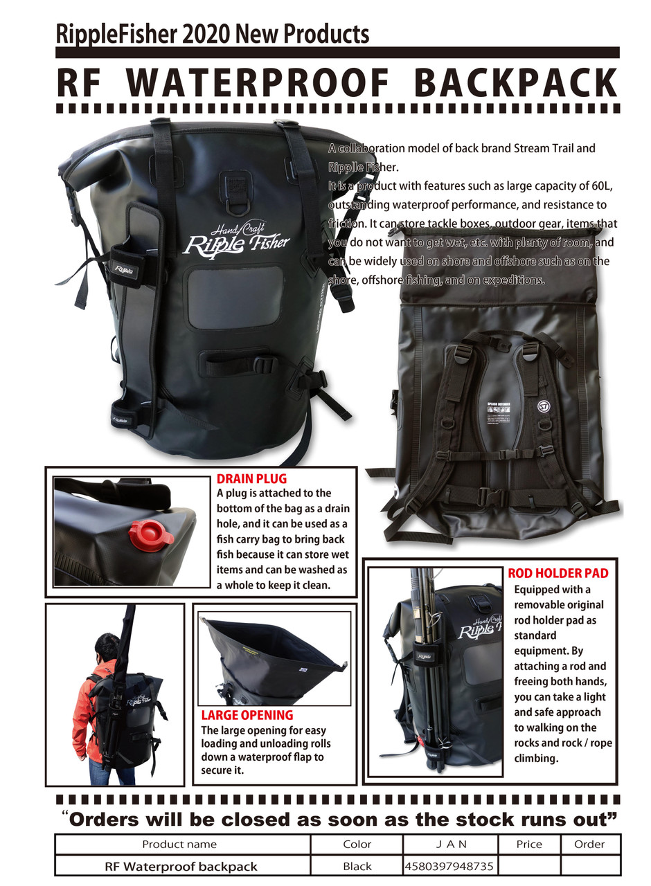 Ripple Fisher Waterproof Backpack