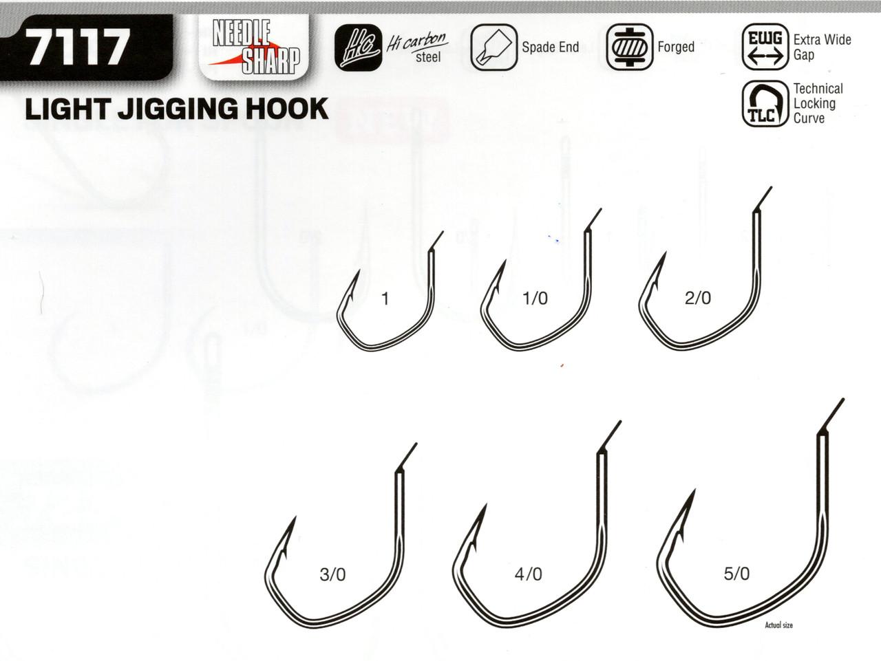 VMC Light Slow Jigging Hooks (bare not rigged)