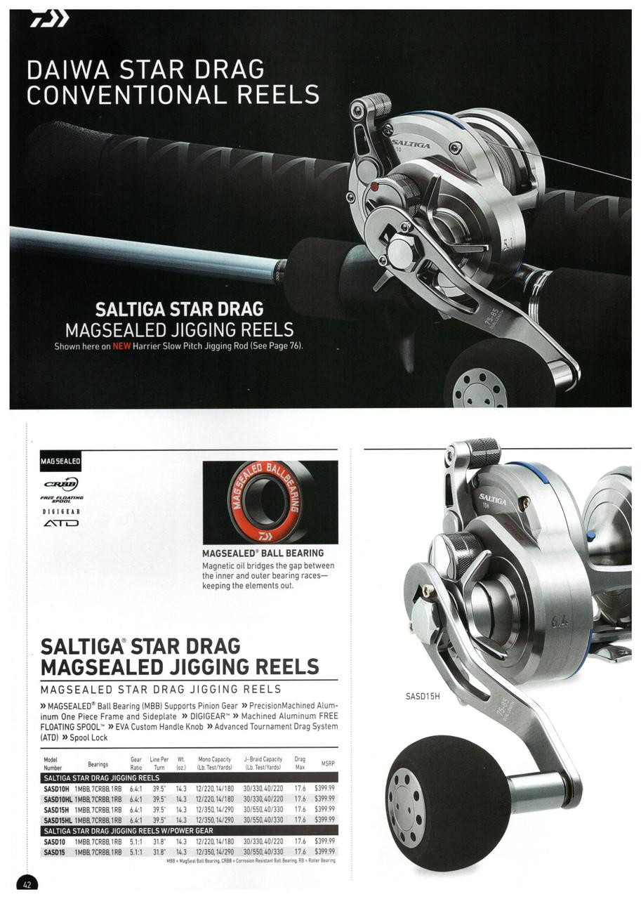 Daiwa Saltiga Star Drag Magsealed Jigging reels