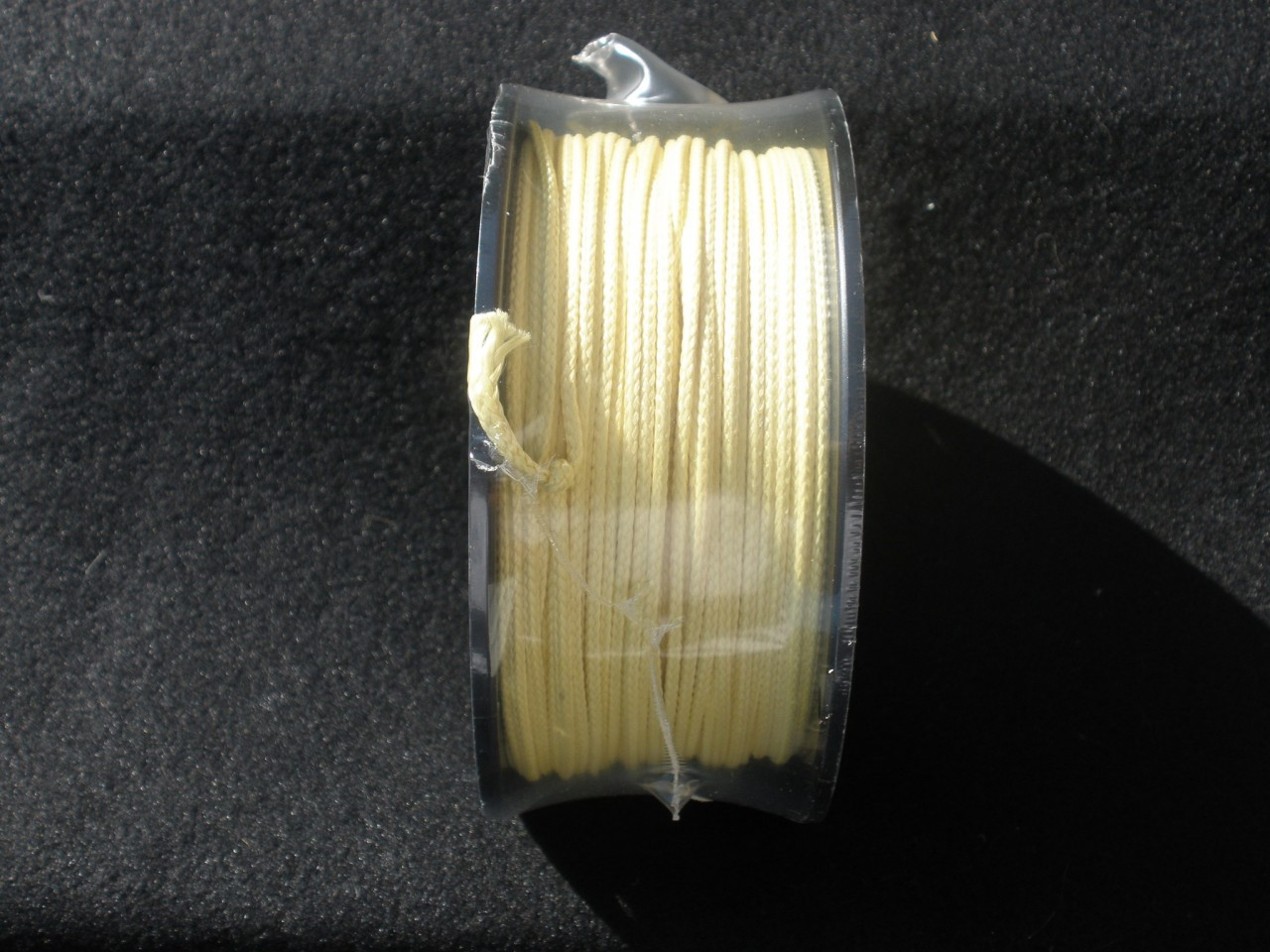 "High quality USA Made Kevlar Cord that is un-dyed and will not stain your hands or tackle box.  100 foot roll is enough to make more than 120 Assist Hooks. A single overhand knot, insert point of the hook through the knot, pull tight, pull loop cord through eye of hook and your done. its very simple. Please see video of how easy and fun it is to make your assist hooks. 100 lb = .020""-.022""  ** this is the size you want for small hooks like 1/0 to 3/0 this will fit through the eye, where as the #200 is too thick for those smaller hooks.  Good for Saltwater and Fresh water fishing. 200 lb = .030 300 lb = .049""-.050"" 500 lb = .068"" 700 lb = .090"""