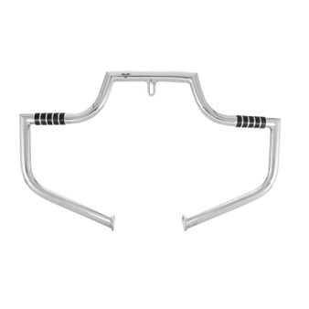 Motorcycle Engine Guard / Crash Bar for Harley Dyna - Polished Stainless Steel