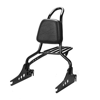 "Sissy Bar King for Harley Heritage Softail,  20"", Detachable, Passanger Backrest - Black"