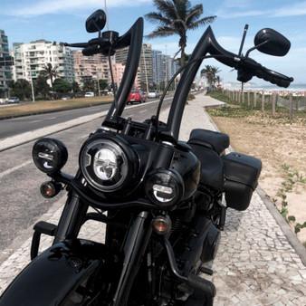 """Diablo Rhino 2"""" Handlebars for Harley-Davidson Heritage - Black"""