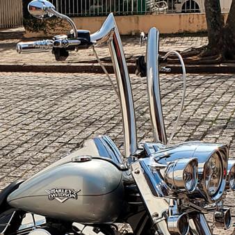 "Diablo Rhino 2"" Handlebars for Harley-Davidson Road King - Stainless Steel Polish"