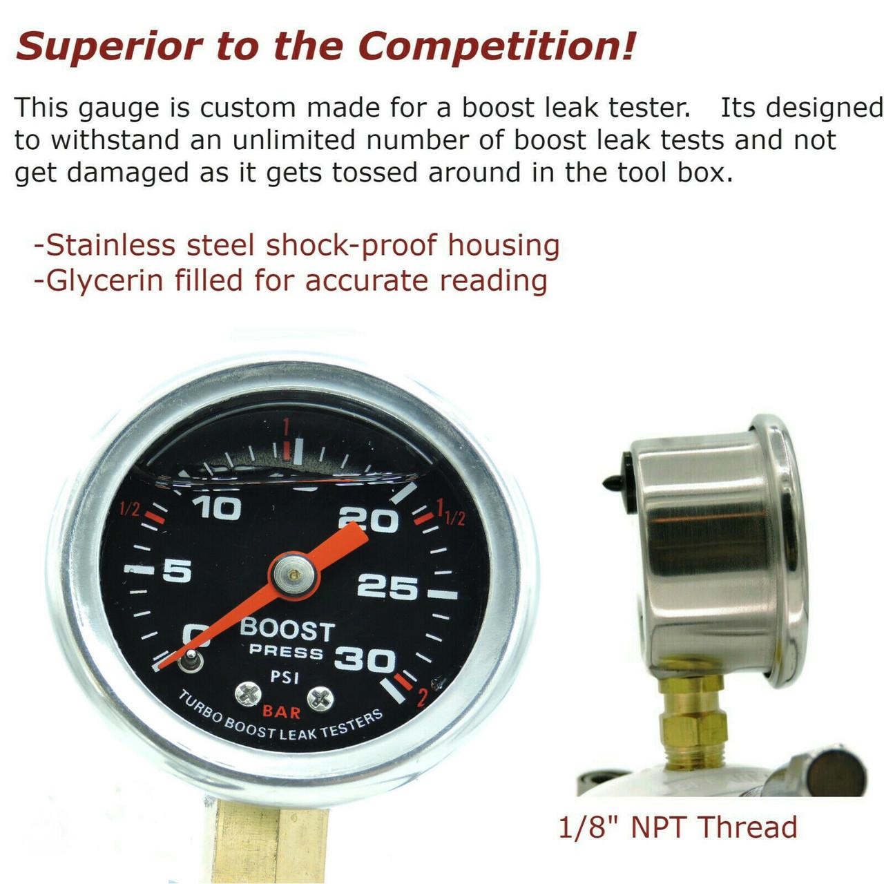 "Shop Kit - Small Frame Turbos 2"", 2.25"", 2.5"", 2.75"", 3"" - BILLET 6061 Aluminum - Universal Shop Boost Leak Tester Kit"