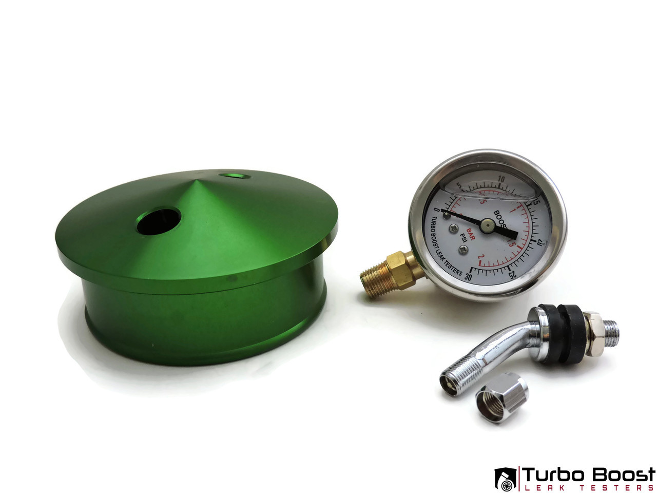 "BMW Top Mount Single Turbo 4"" Inch - Boost Leak Tester Kit - BILLET Aluminum"