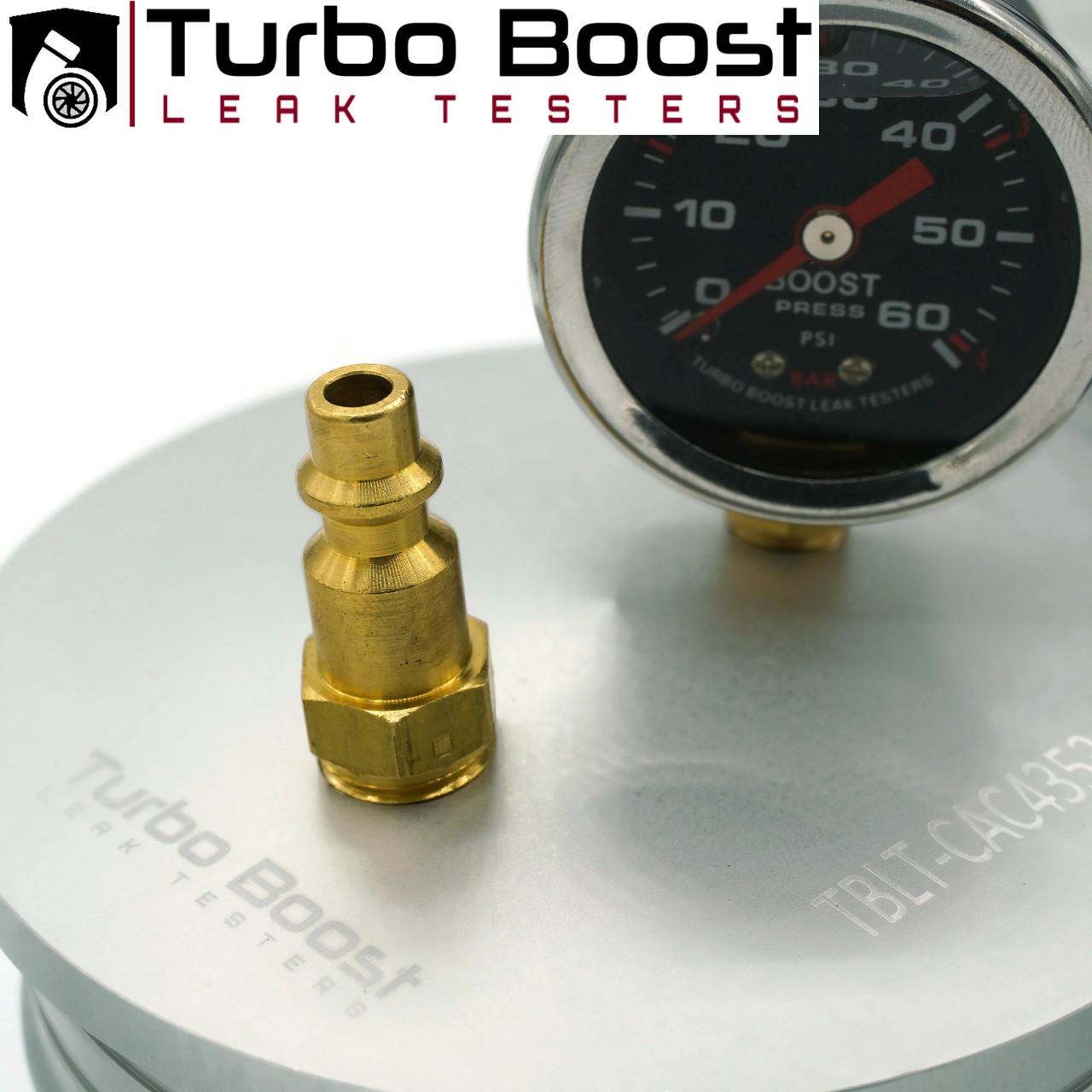"Charge Air Cooler CAC Boost Leak Tester -  6061 BILLET ALUM 60 PSI - Class 7 & 8 Trucks - Fits into intercooler hose 4"", 3.5"", 3"""