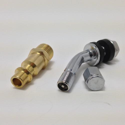 Comes standard Tire valve stem or opt for compressor fitting