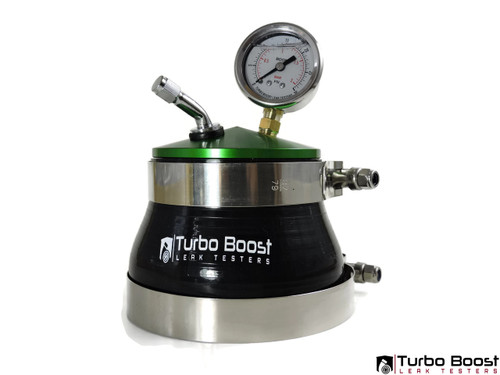 "BMW Top Mount Single Turbo 4"" Inch - Boost Leak Tester Kit - BILLET Aluminum"