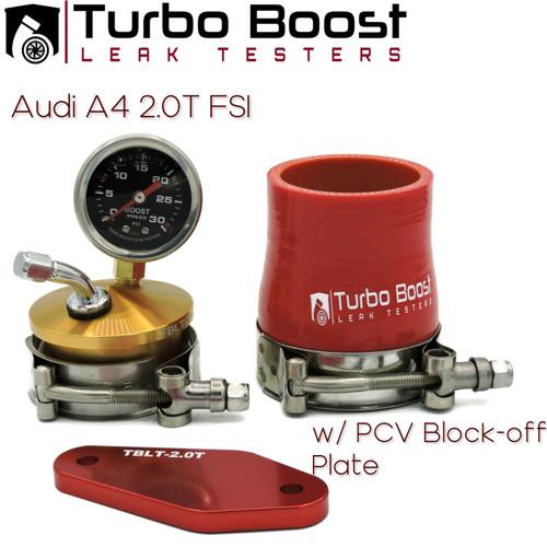 Audi A4 2.0T B7 B8 (2004 - 2016) IHI IS20 Turbo - Premium Boost Leak Tester Kit - Billet Aluminum