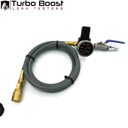 Shop Air Compressor 150PSI Regulated 5 ft Extension hose kit with ball valve