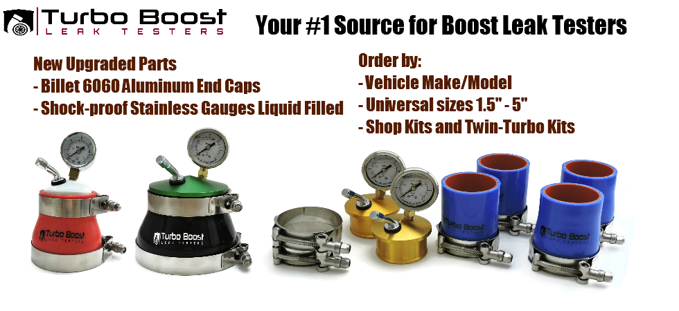 Turbo Boost Leak Testers - Get Your Boost Back!