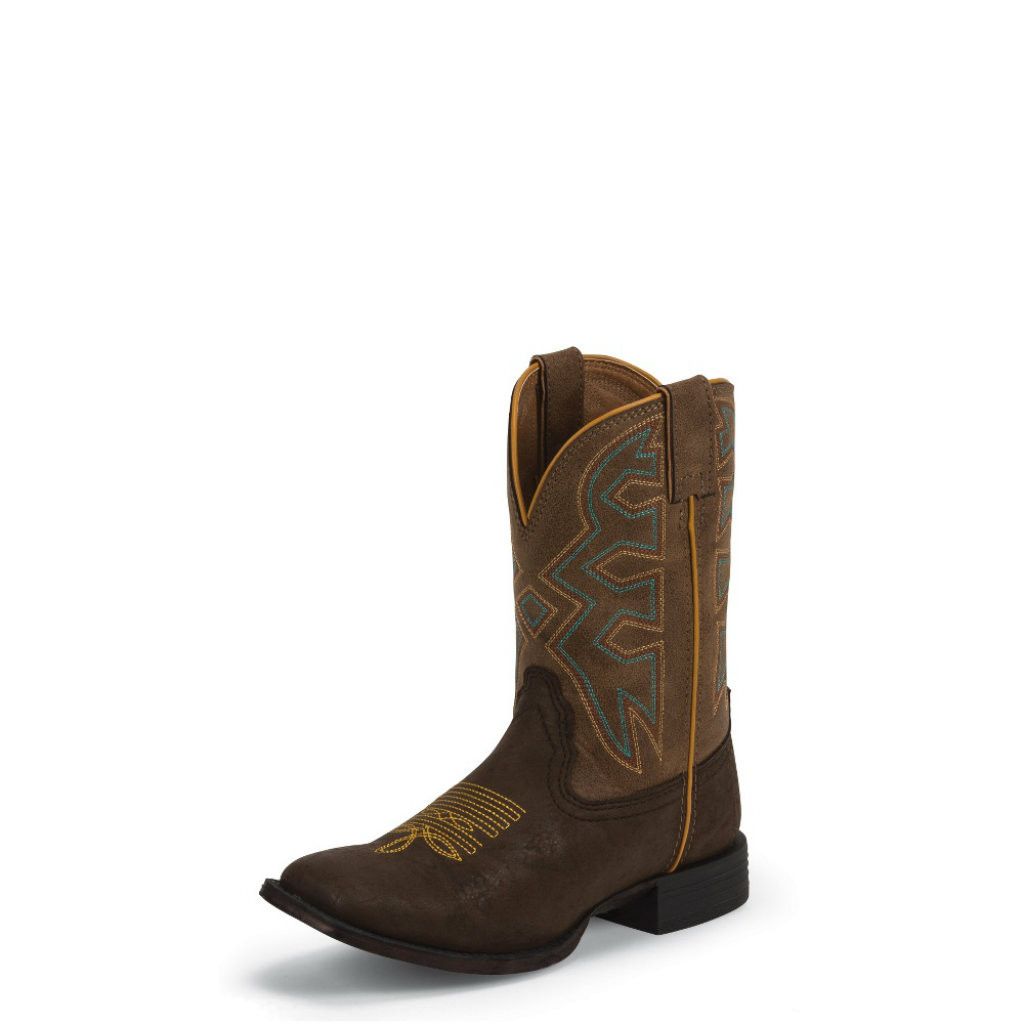 Kids Nocona Boot, Brown Rodeo Vamp, Brown Shaft