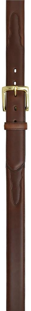 Men's 3D Belt, Solid Brown, Gold Buckle