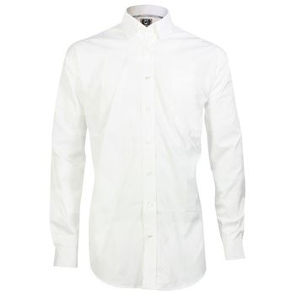 Men's Cinch L/S, Solid White Pinpoint Oxford