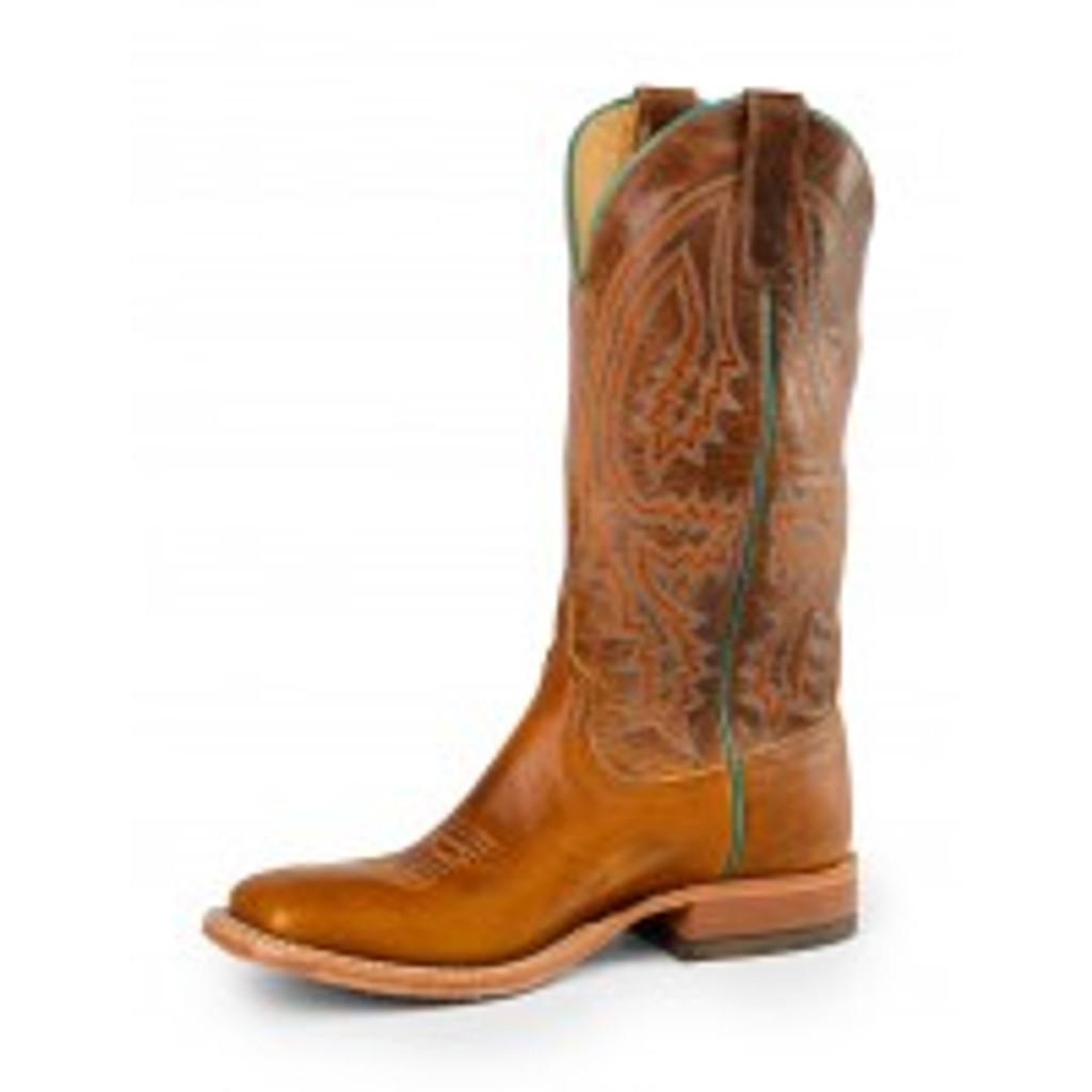 Men's Anderson Bean Boot, Tobacco Tan/ Orange and Turquoise Stitch