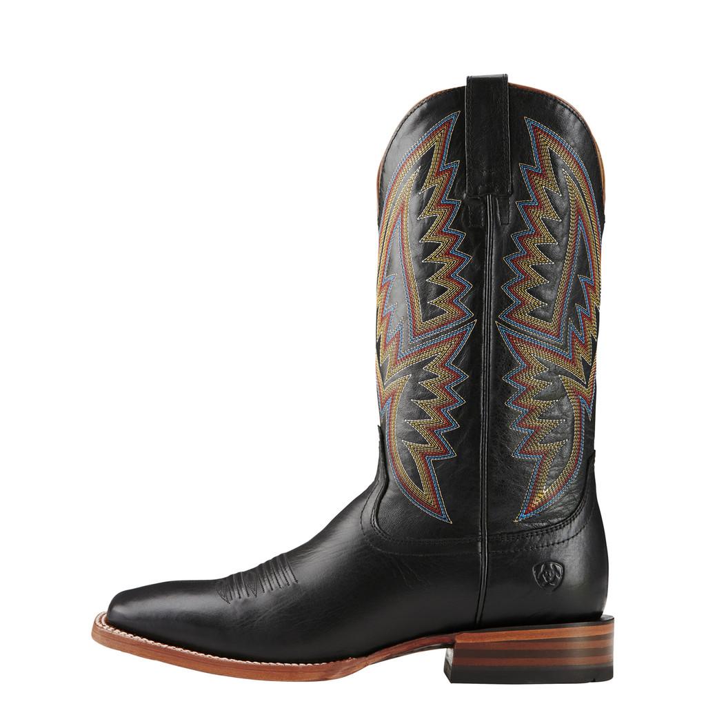 "Men's Ariat Boot, Midnight Black/Multi Color Stitching, 13"" Square Toe"