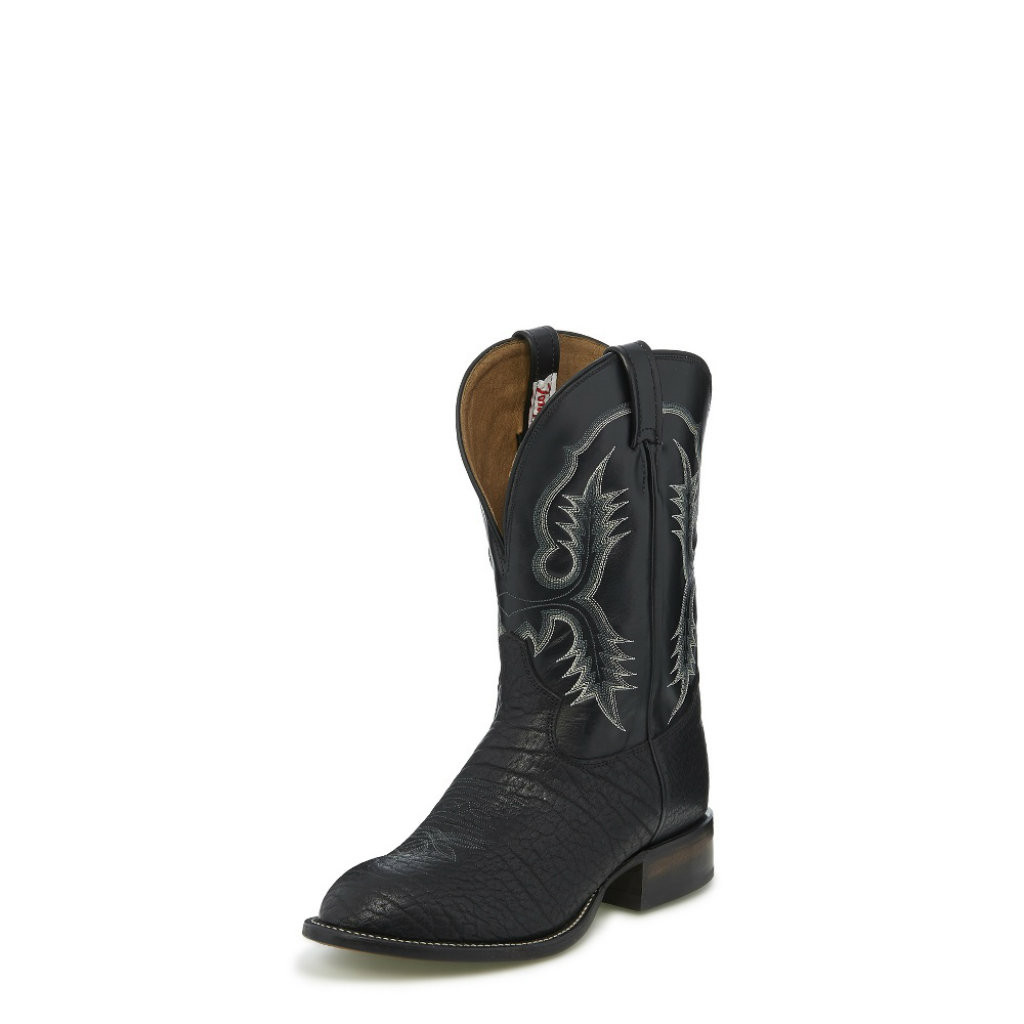 Men's Tony Lama Boot, Black Bullhide, Stockman Western