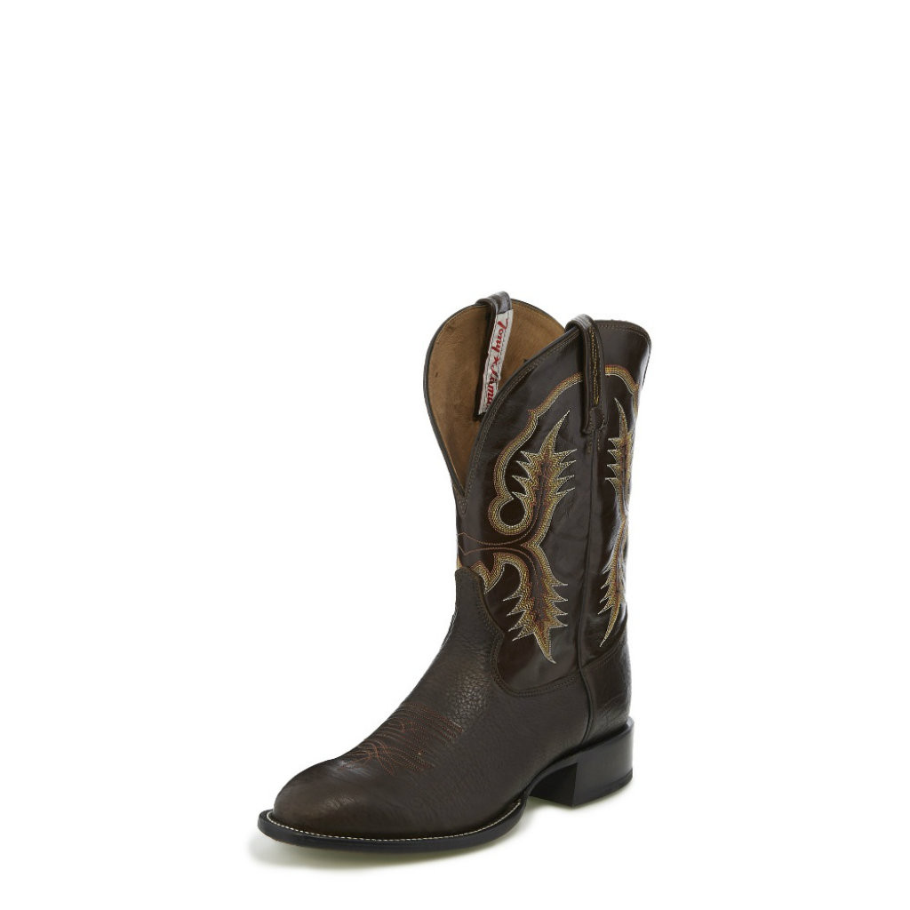 Men's Tony Lama Boot, Chocolate Shrunken Shoulder