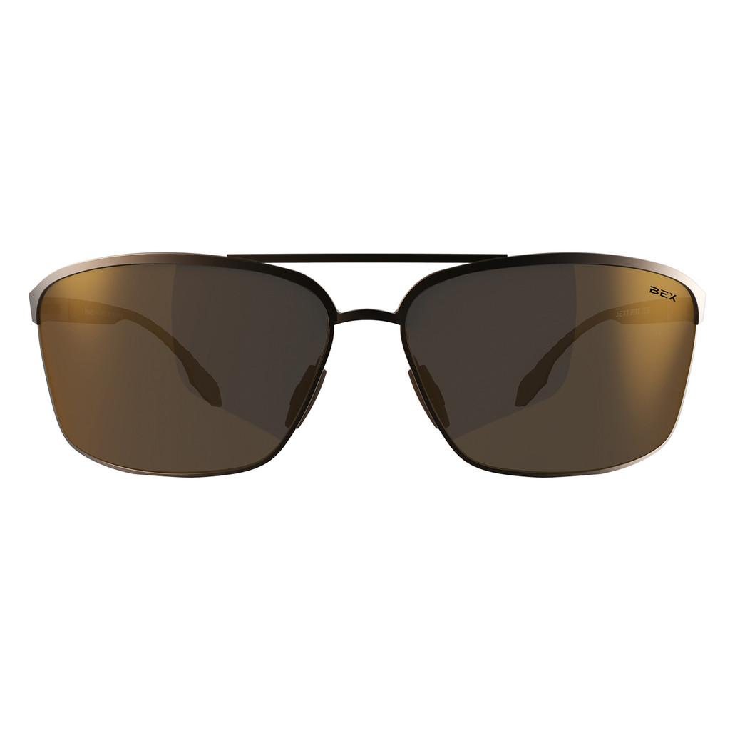 Bex Sunglasses, Copper Frame, Amber Lens, Shuyk