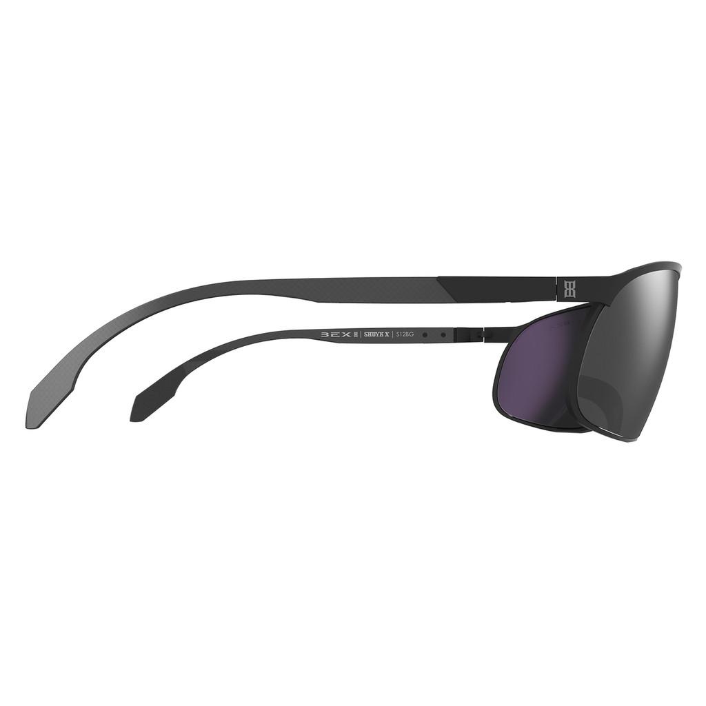Bex Sunglasses, Black Frame, Gray Lens, Shuyk