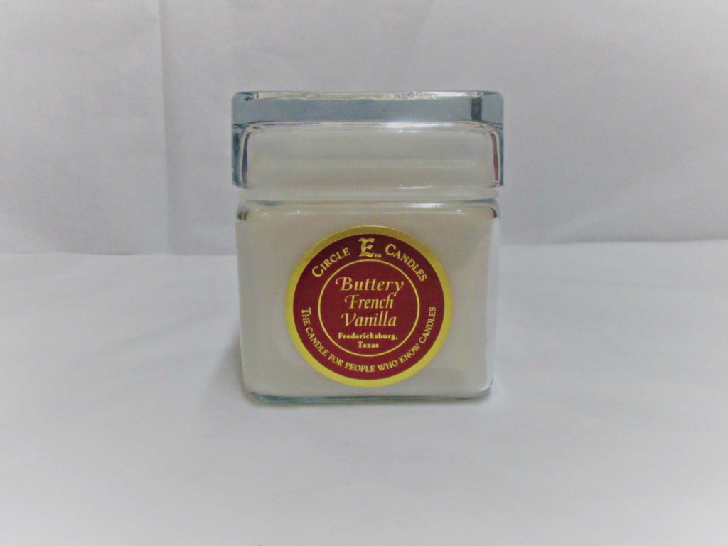 Circle E Candle, Buttery French Vanilla, 12 oz.