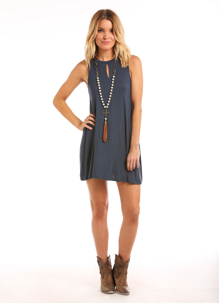 Women's Panhandle Dress, Navy, Tank Top Style
