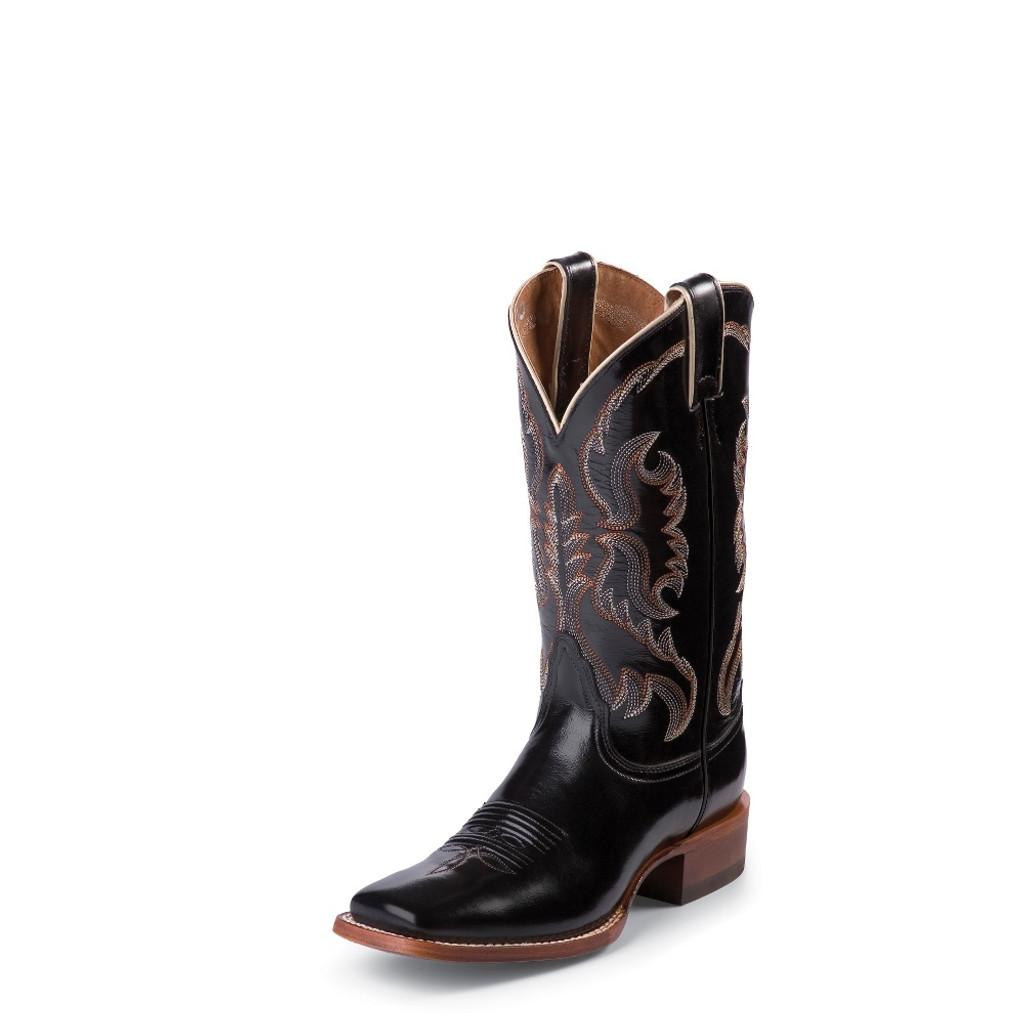 """Women's Nocona Boot, Black Calf, 11"""", Square Toe"""