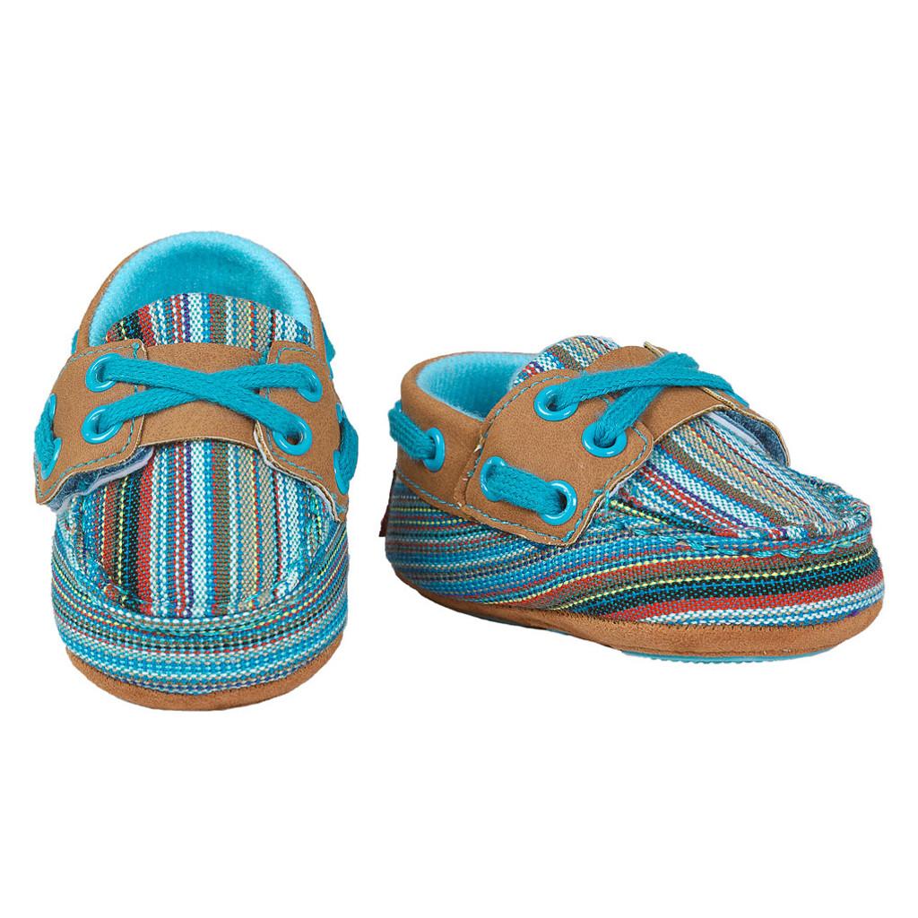 Baby Bucker Boots, Olivia, Turquoise Serape