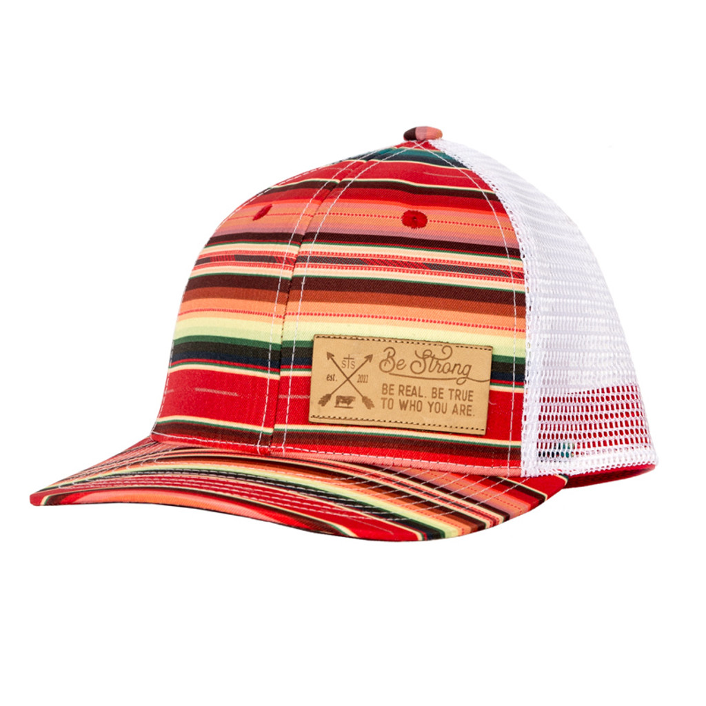 Women's STS Cap, Serape Trucker with White Mesh, Leather Patch