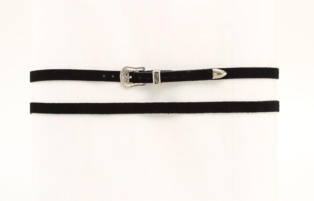 M&F Black Hat Band with Silver Buckle