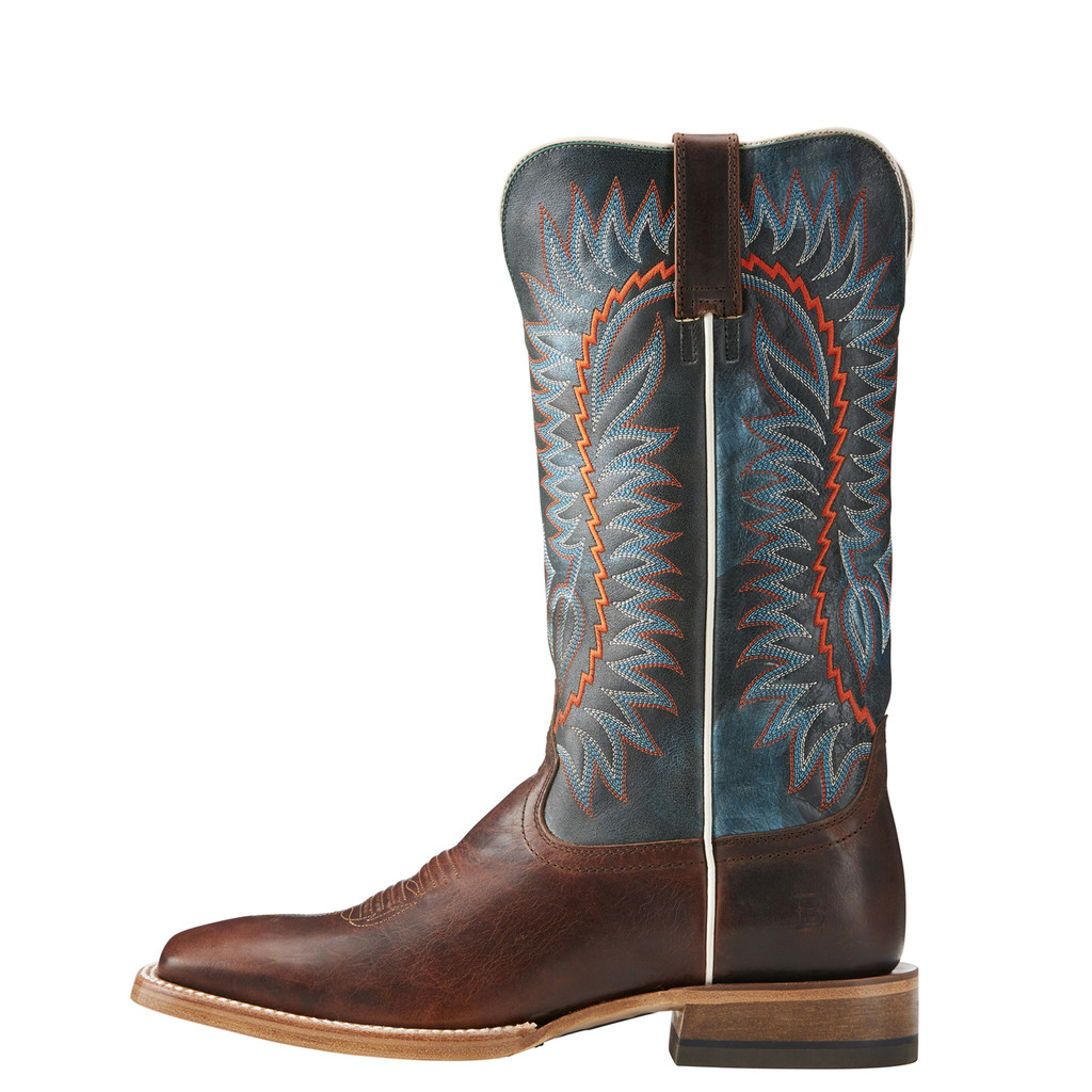 Men's Relentless Boot, Elite, Texaco Cognac Vamp, Orange and Blue Stitching