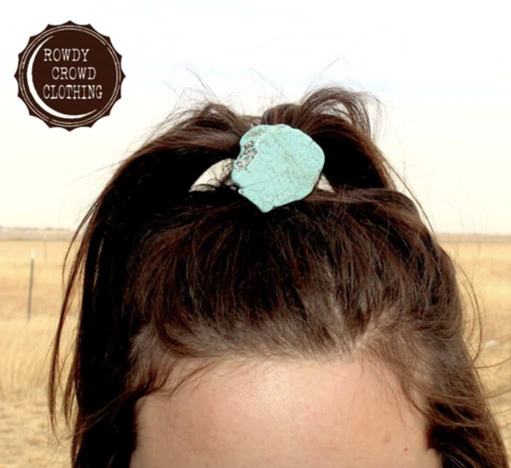 Rowdy Crowd Ponytail, Turquoise Slab