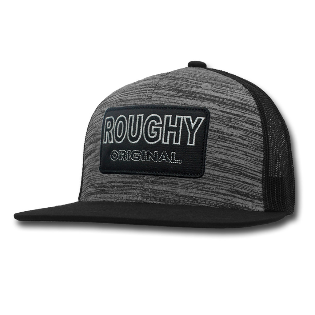 best service 338e8 7f589 Men s Hooey Cap, Roughy Original, Gray and Black Mesh, Black and Gray Patch  - Chick Elms Grand Entry Western Store and Rodeo Shop