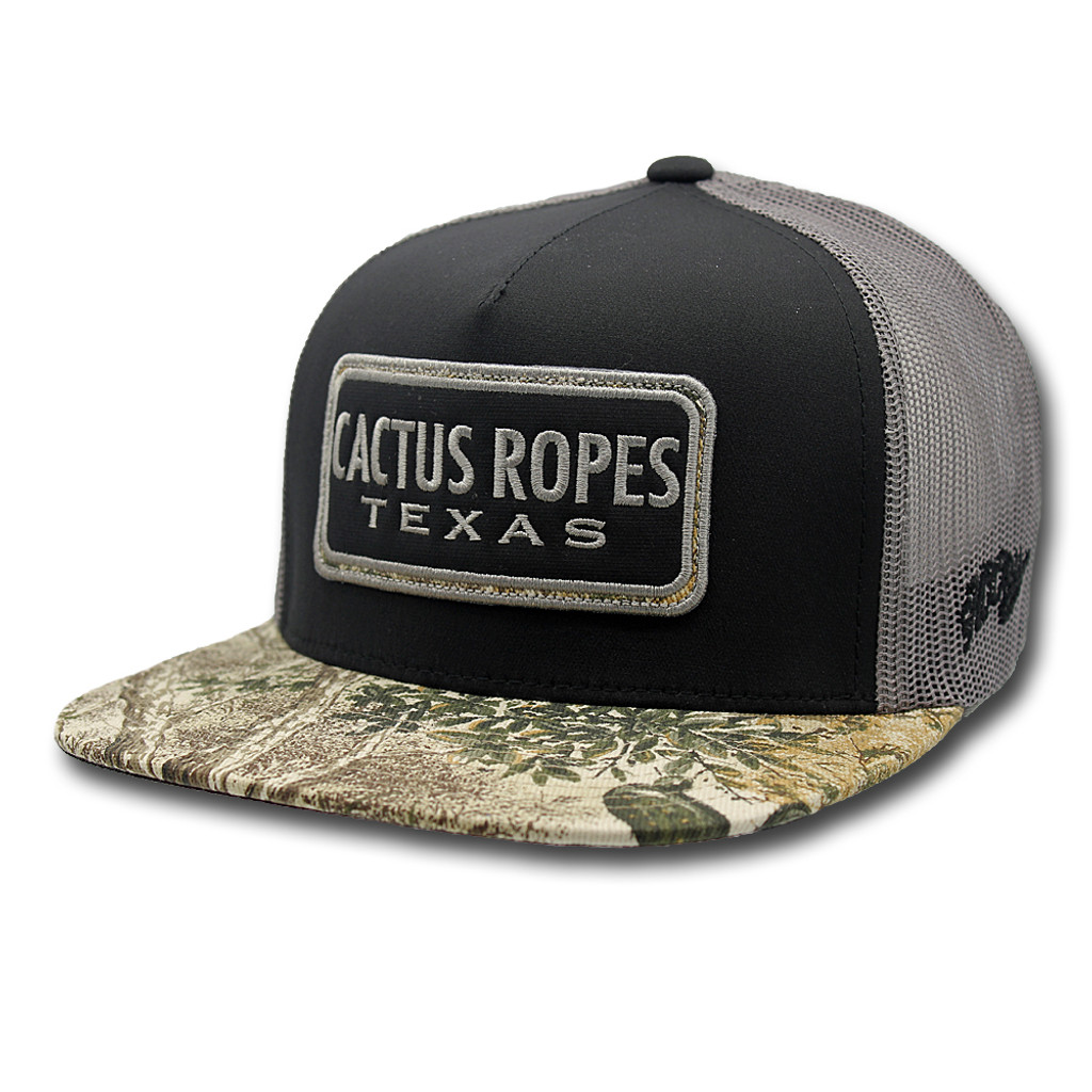 best website 10544 e2789 ... low price mens hooey cap cactus ropes black and gray game guard patch  39ce0 d76bf