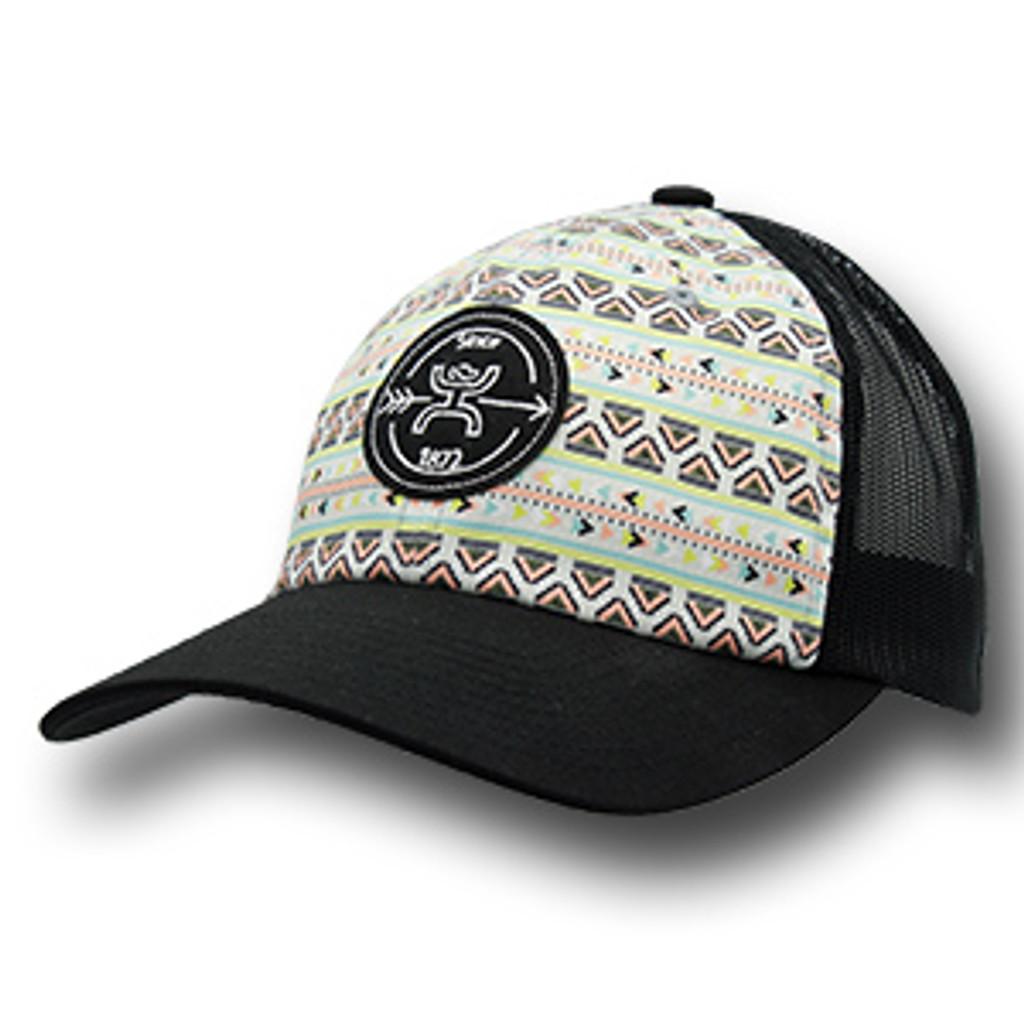 """Women's Hooey Cap, """"Quake"""" Aztec Print, Black Logo"""