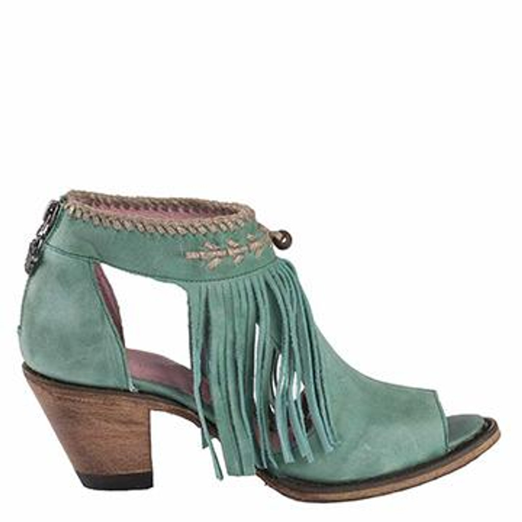 Women's Lane Boot, Archer, Turquoise Open Toe