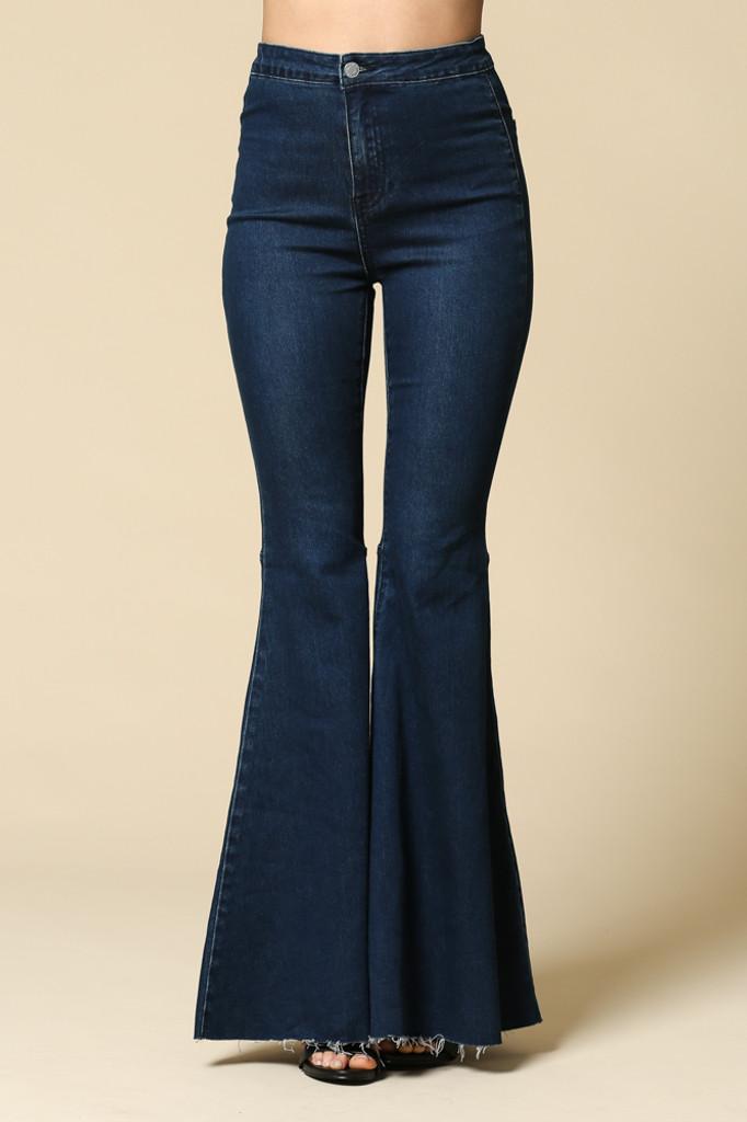 Women's By Together Jeans, Super Flared Bells, Dark Denim