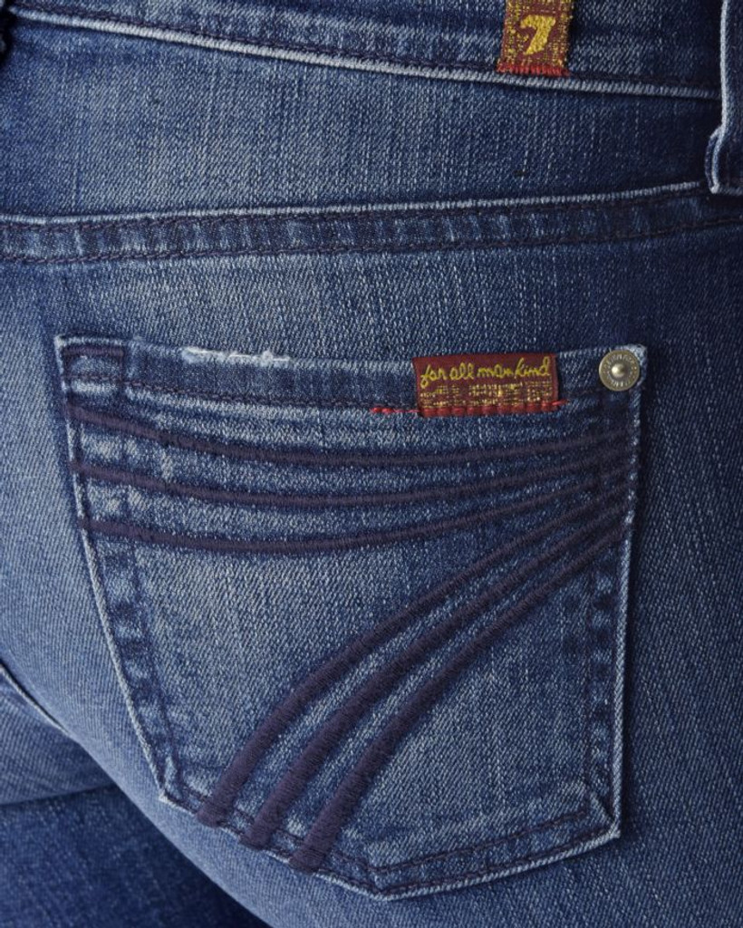 Women's 7FAMK Jean, Dojo, Lake Blue, Dark Stitching
