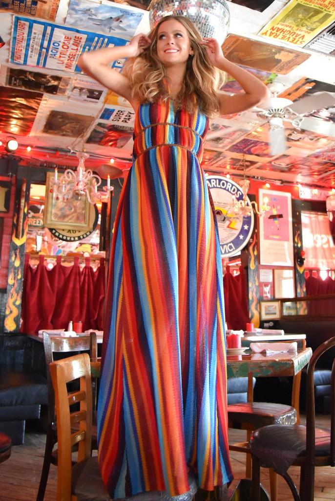 Women's Judith March Dress, Marfa Serape, Maxi Style, V-Neck