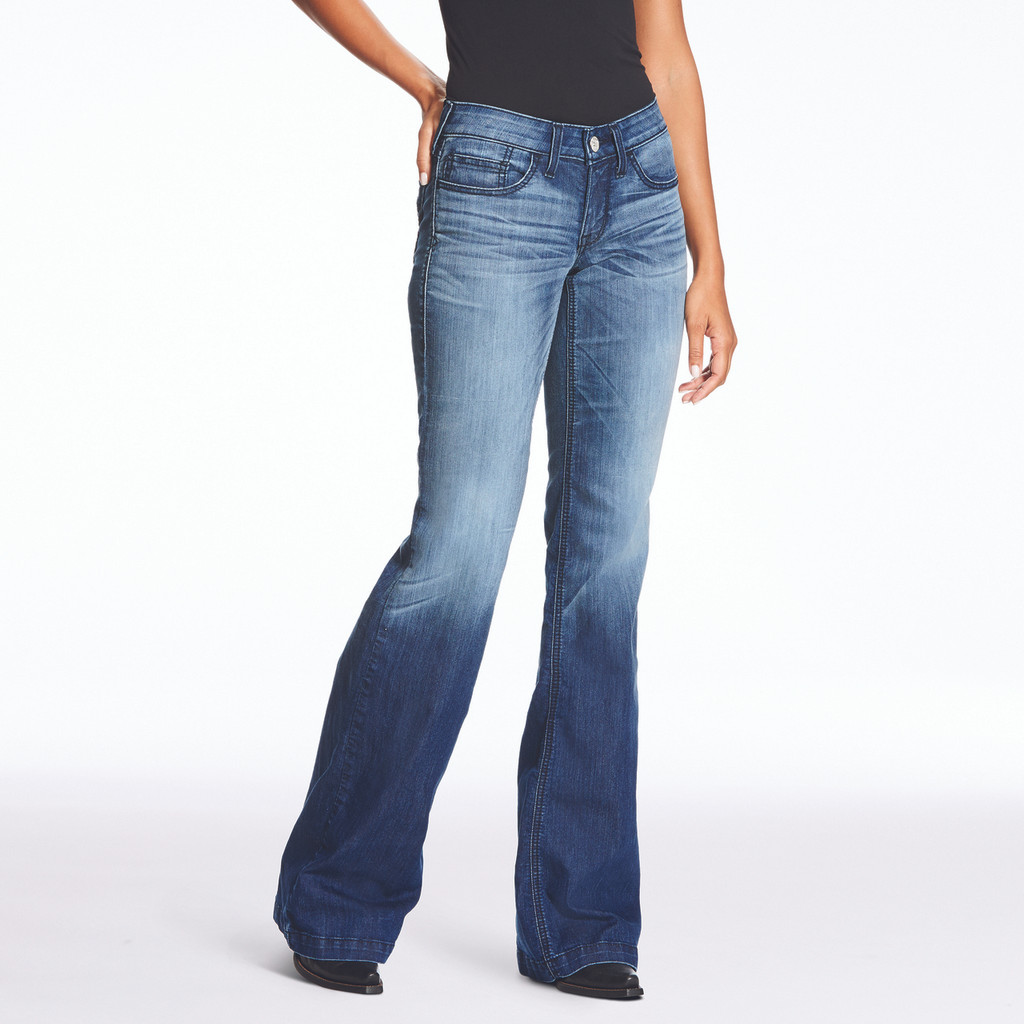 Women's Ariat Jeans, Trouser, Half Moon, Faded Wash