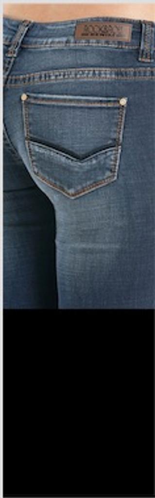 """Women's Rock & Roll Jeans, Trouser, Dark """"V"""" on Pocket"""