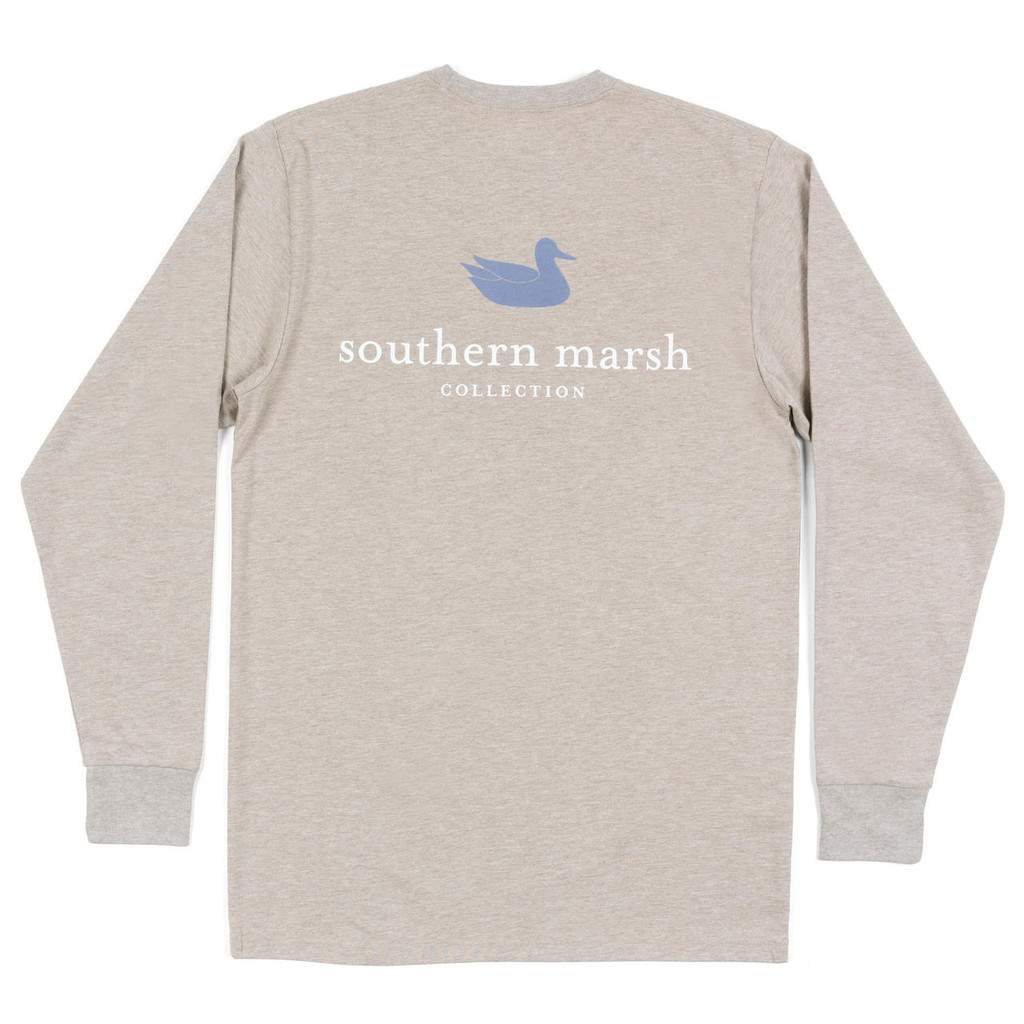 Men's Southern Marsh L/S, Logo Tee, Taupe