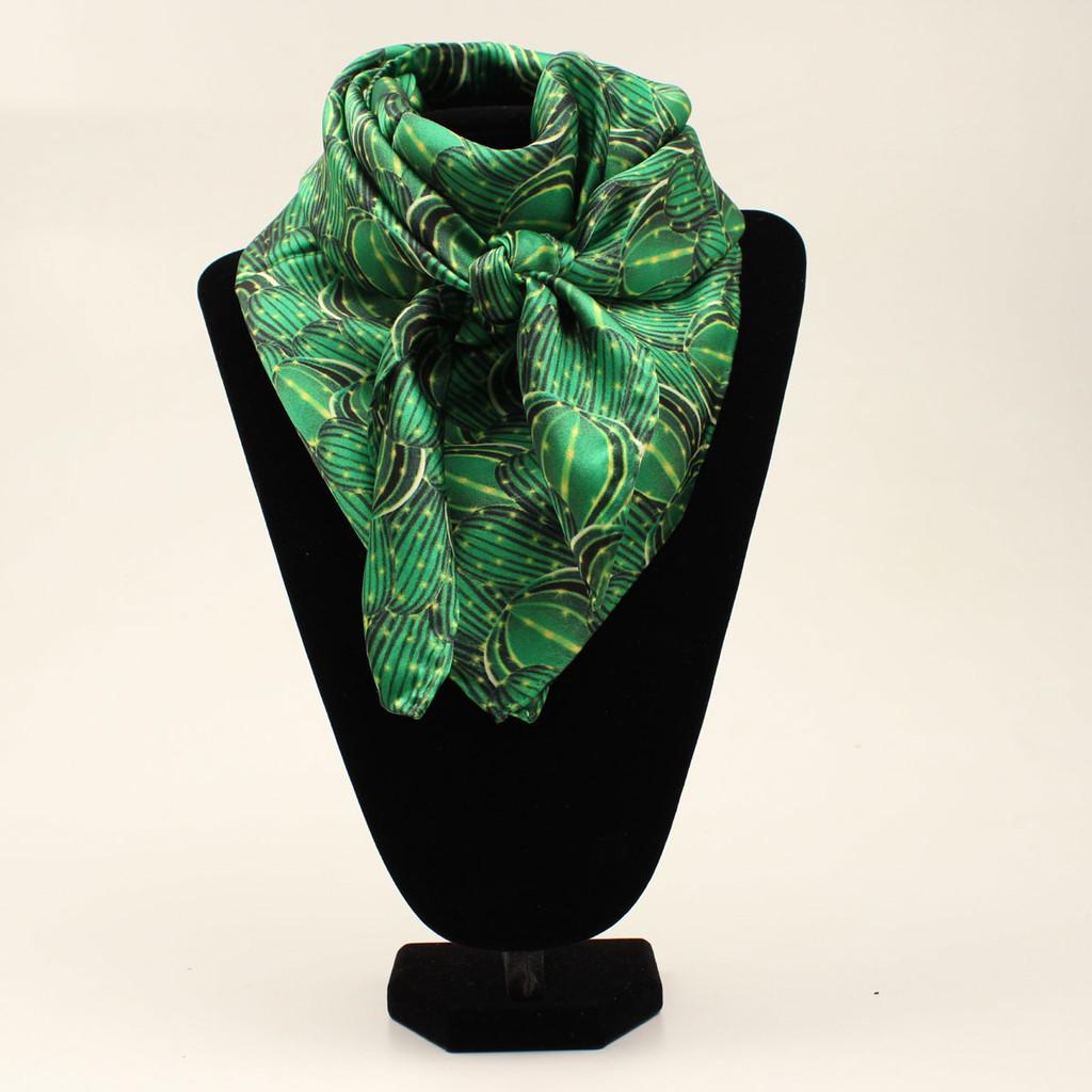 M&F Wild Rag, Green with Cactus Print