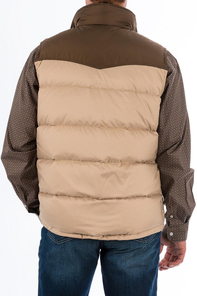 Men's Cinch Vest, Quilted Down, Tan